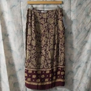 NWT Norton McNaughton brown paisley boho skirt 10